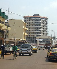 A street scene in the Central African Republic's capital, Bangui