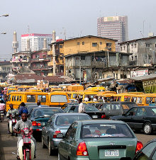 Lagos' roads suffer from extreme congestion.