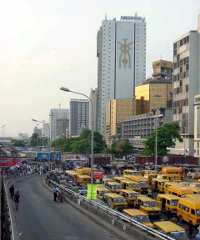 Lagos is West Africa's largest city.