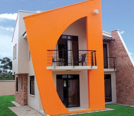 An example of one of the four bedroom houses of the Kensington Luxury Heights development in Kampala, Uganda.
