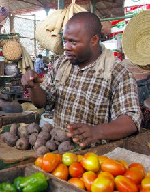 A market in Mombasa, Kenya. It is important for exporters to learn how business in Africa works.