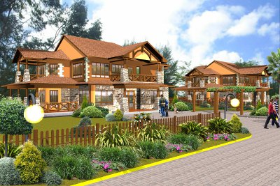An artist's impression of the luxury homes on the Thika Greens Golf Estate