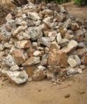 A heap of barytes at Faya, Plateau State