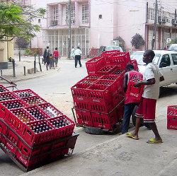 A Coca-Cola manual distribution centre in Dar es Salaam, Tanzania