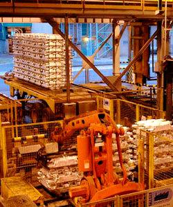 BHP Billiton's Mozal aluminium smelter close to Maputo.