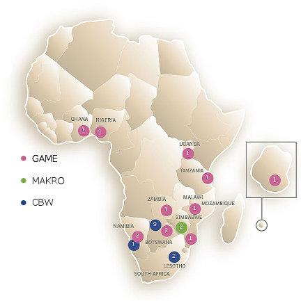 Massmart's African footprint
