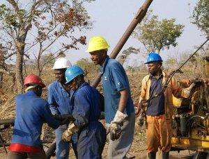 Globe's drilling crew in Malawi