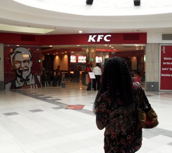 KFC's restaurant at The Palms shopping centre in Lagos, Nigeria