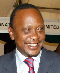 Kenyan Finance Minister Uhuru Kenyatta