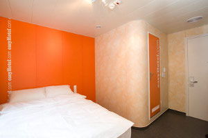 A typical easyHotel room.