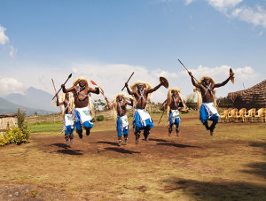 Dancers at the Iby'Iwacu Cultural Village. Picture: Jonathan Kalan