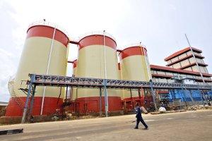 SIFCA's palm oil refinery in Abidjan.