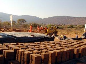 The Hydraform block yard in Gombani.
