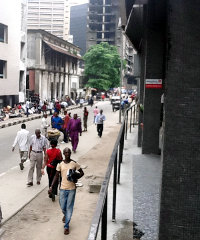 Lagos, Nigeria. It is estimated that over 60% of Africans will live in urban areas by 2050.