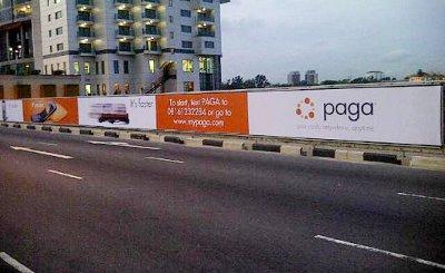 A Paga advertisement in Lagos, Nigeria.