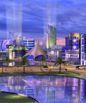 An artist's impression of the proposed Konza City development.