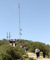 Charles Nyezi's wireless internet tower 9km outside Nquthu.