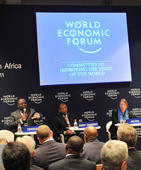 A panel discussion at last year's World Economic Forum on Africa.