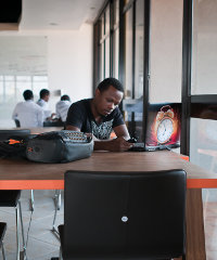 The kLab is a working space for young software developers in Kigali, Rwanda. Photo: Jonathan Kalan