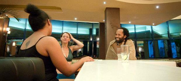 Cooling down at the Bikram Yoga Nairobi juice bar