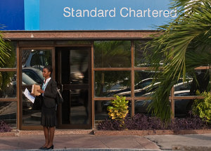 A Standard Chartered branch in Nigeria.