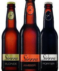 Sierra Premium Beer's three brands.
