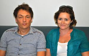 Kresten Buch and Sylvia Brune.