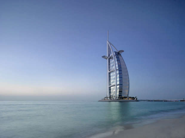 The Burj Al Arab, Jumeirah, in Dubai. The Jumeirah Group – headquartered in Dubai – is a brand which sells itself through its unique architecture and design, with many of their hotels being a tourist attraction themselves.