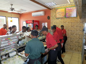 A Subway outlet in Tanzania.