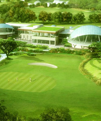 An artist's impression of the golf resort's club house.