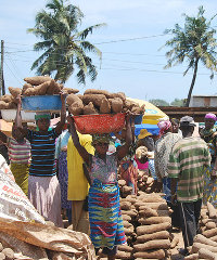 A market in Accra