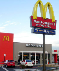 A McDonald's outlet in South Africa.