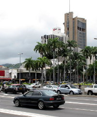 A major road in the Mauritian capital Port Louis.
