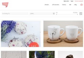 A screenshot of the Hello Pretty website.