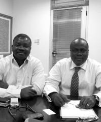 Christian Opoku Biney (left) and Stephen Antwi-Asimeng from Jacana Partners' West Africa division.