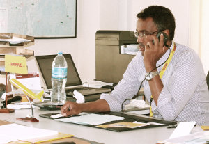 Ahmed Abdi, country manager of DHL Express in Tanzania