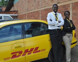 Zachariah Mbanda and Eliane Tebuka
