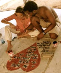 Daniela Bleattler and Ali Omar, co-founders of Ali Lamu