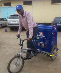 Engen is selling its products via bicycle vendors.