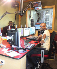 Past Anzisha Prize winners participate in a radio interview as part of the prize's East Africa visit