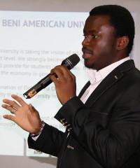 Gossy Ukanwoke, founder of the Beni American University in Nigeria and an Anzisha Prize judge
