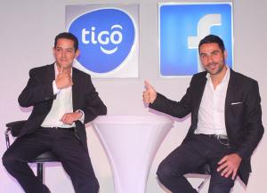 Tigo Tanzania general manager, Diego Gutierrez (left), and Facebook representative, Nicola D'Elia, during the launch of the partnership in Dar es Salaam