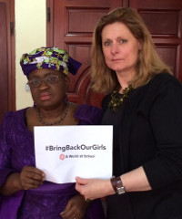Sarah Brown, wife of former British Prime Minister, and Ngozi Okonjo-Iweala, Nigeria's Minister of Finance, at the World Economic Forum on Africa this month. #BringBackOurGirls (referring to the 200 schoolgirls kidnapped in Nigeria) has been trending on Twitter and the online space globally.