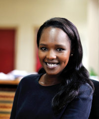Nonnie Wanjihia is glad to be back in Kenya after spending many years abroad.