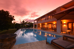 One of the luxury homes at Vipingo Ridge