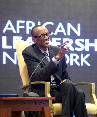 Rwandan President Paul Kagame at this year's ALN annual gathering