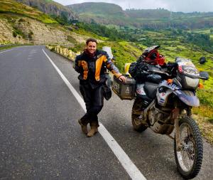 Jolandie Rust is the first woman to bike around Africa.