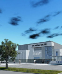 An artist's impression of Bombardier's production site in Morocco.