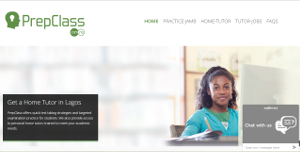 Prepclass provides a database of study content, as well as a home tutoring service, to help prepare prospective university students for their JAMB exams in Nigeria.