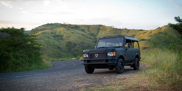 The Mobius II is designed for the poor road conditions in Kenya.